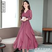 高貴洋裝秋裝年春裝女秋季新款氣質顯瘦內搭冬裙子