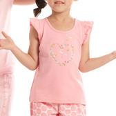 【愛的世界】蝴蝶袖圓領彈性上衣/3歲-台灣製- ★春夏上著 夏出清