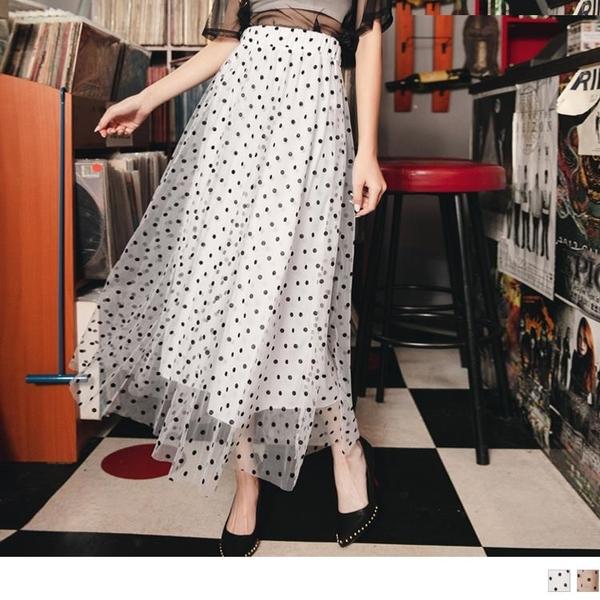 《KG1080》復古點點柔美紗裙 OrangeBear