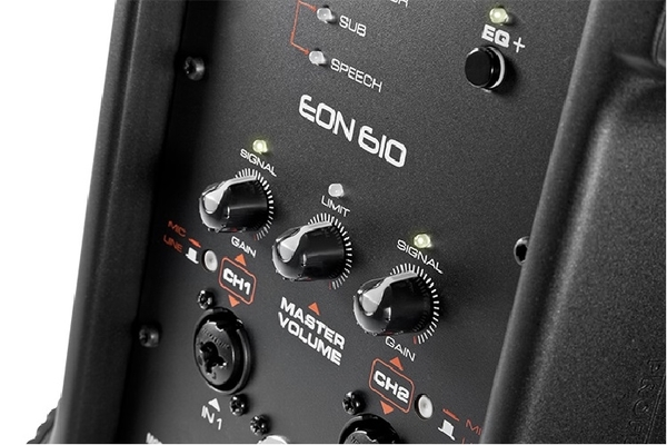 美國JBL EON 610 一千瓦輸出10吋可藍芽操控主動式喇叭/單支(公司貨)含稅保固-贈Canare麥克風線