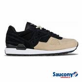 SAUCONY SHADOW O SUEDE 經典復古鞋款-黑x卡其