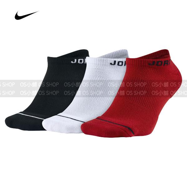 NIKE AIR JORDAN 踝襪 三雙一包 SX5546-011 紅/黑/白 襪子