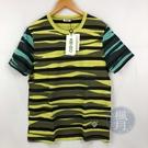 BRAND楓月 KENZO 高田賢三 黃色 綠袖 黑色條紋 虎紋 T恤 上衣 夏季穿著 #M