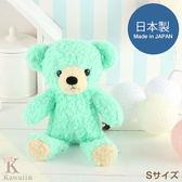 Hamee 日本製 手工原創商品 細緻絨毛娃娃 軟綿綿系列 療癒玩偶 禮物 泰迪熊 (薄荷綠/S) 640-110060