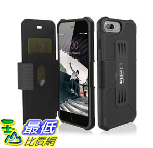 [106美國直購] 手機保護殼 UAG Folio iPhone 8 Plus 7 Plus iPhone 6s Plus [5.5吋screen] Metropolis Feather