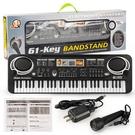 多功能61鍵電子琴 話筒麥克音樂電鋼琴影樓禮品樂器玩具