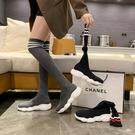 2020秋冬新款襪子鞋內增高針織長筒過膝靴女運動長靴瘦腿彈力靴潮 小山好物