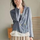 簡約休閒雙排釦西裝外套短外套【75-15-85321-21】ibella 艾貝拉