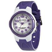 JAGA捷卡 指針錶 白面 粉紫橡膠 33mm 女錶 小錶 童錶 AQ71A-DJ