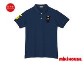 MIKI HOUSE 日本製 皇冠熊親子POLO衫大人款(天空藍)