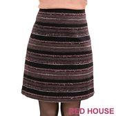 RED HOUSE-蕾赫斯-細橫條紋路短裙(共二色)