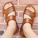 夏季真皮涼鞋男潮新款防滑軟底