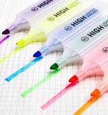 得力雙頭熒光筆學生用一套粗劃重點糖果色標記瑩光彩色記號筆套裝  百搭潮品