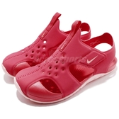Nike 涼鞋 Sunray Protect 2 PS 紅 粉紅 運動鞋 魔鬼氈 小朋友 中童鞋【PUMP306】 943828-600