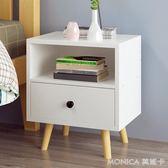 簡易床頭櫃歐式簡約儲物櫃臥室床頭小邊櫃多功能抽屜式斗櫃 莫妮卡小屋 IGO