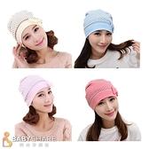 BabyShare時尚孕婦裝【410010】圓點點蝴蝶結 棉質月子帽 可搭配任何哺乳套裝 產婦帽 防頭風孕婦帽