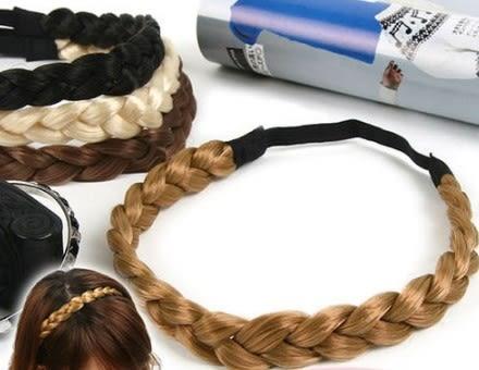 [協貿國際]  波西米亞風假髮編織麻花辮子髮帶髮飾 (6個價)