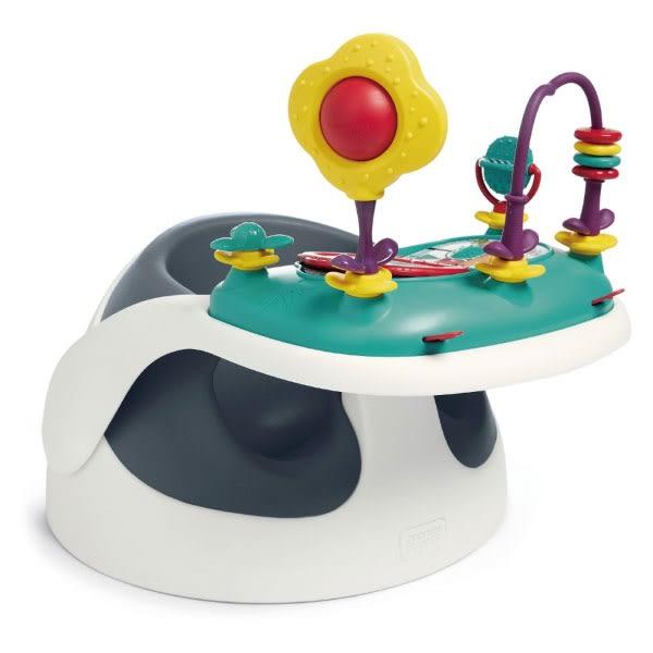 【陪你玩樂組合】英國 mamas & papas 二合一育成椅/餐椅/幫寶椅/攜帶式-岸岩藍(附玩樂盤)~麗兒采家