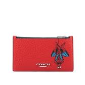 【COACH】Marvel x Coach 聯名蜘蛛人卡片/零錢包(紅色) 1857 SVQRG