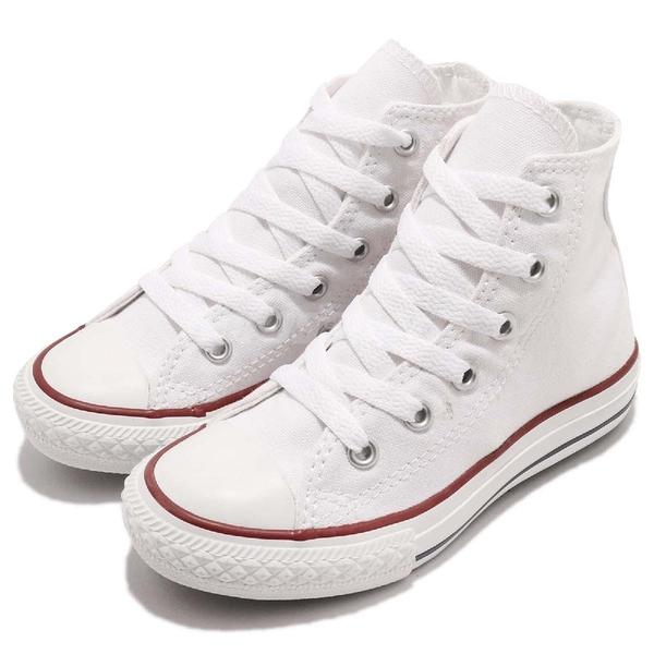 Converse Chuck Taylor All Star 白 紅 基本款 高筒 帆布鞋 童鞋 中童鞋【ACS】 3J253C