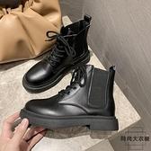 馬丁靴女百搭冬加絨瘦瘦靴潮英倫風小短靴矮靴子【時尚大衣櫥】
