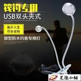 釣魚燈 新款釣魚燈led雙頭筏釣燈超亮黃光誘魚燈拉餌燈USB釣 星際小鋪