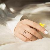 戒指女鹿角款個性小眾設計開口可調節指環【聚寶屋】