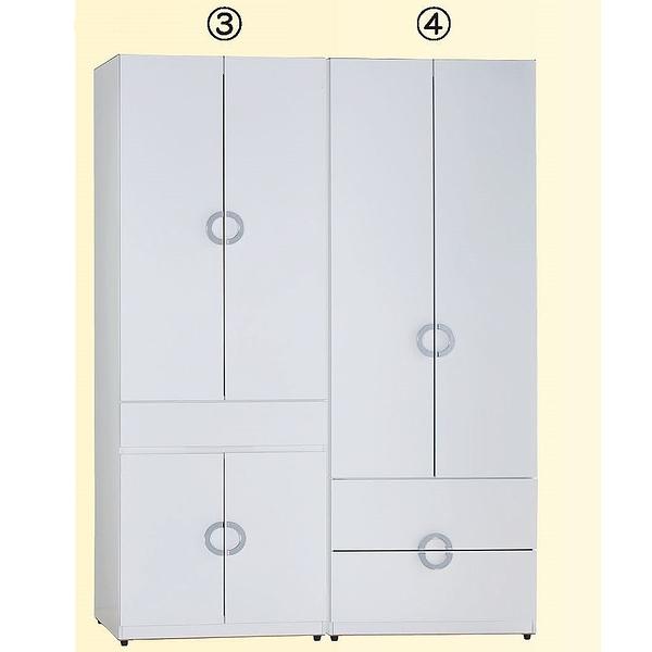 【森可家居】凱倫4.6尺組合衣櫃(3+4) 7JF071-4 衣櫥 MIT台灣製造
