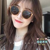 太陽眼鏡/墨鏡 太陽鏡女偏光圓框墨鏡韓版潮網紅可配復古茶色眼鏡2019新 1色