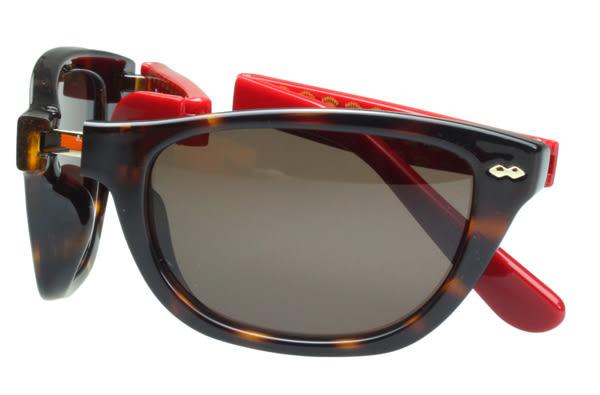 Juicy Couture -時尚太陽眼鏡(玳瑁色+紅色鏡腳)