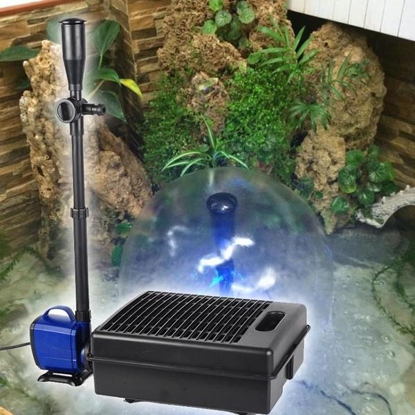 魚池過濾器錦鯉魚池過濾器陽臺噴泉循環水泵淺水低水位 麥田家居館