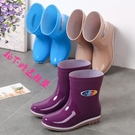 雨靴 雨鞋女外穿短筒水鞋防水膠鞋中筒雨靴防滑廚房工作塑膠水靴鞋四季-免運