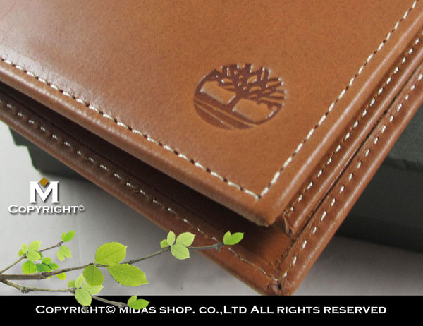 【Timberland】牛皮夾 多卡夾 品牌盒裝/棕色