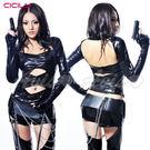 情趣用品 虐戀精品CICILY-特務J女郎-特務裝扮 塗膠仿皮 性感緊身膠衣