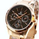 【萬年鐘錶】SIGMA 日系 簡單 男錶  女錶  黑錶面 玫瑰金殼 玫瑰金錶帶 9815B-R1