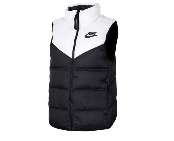 NIKE服飾系列-NSW WR DWN FILL VEST REV 女款黑白休閒羽絨背心-NO.939443100