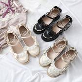 洛麗塔低跟學院風蕾絲邊小皮鞋公主軟妹【不二雜貨】