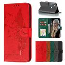 小米 紅米Note8T 荔枝紋羽毛皮套 手機皮套 插卡 支架 掀蓋殼