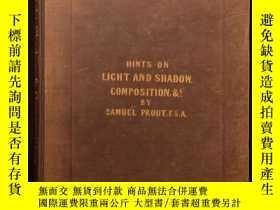 二手書博民逛書店稀缺,《罕見Hints on Light and Shadow》