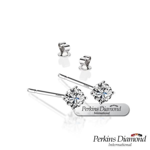 【南紡購物中心】PERKINS 伯金仕 Classic系列 鑽石耳環