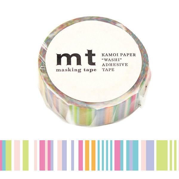日本mt Masking Tape 和紙膠帶 粉彩線條 15mm