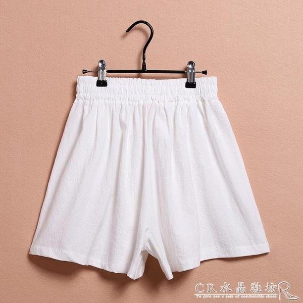 女童短褲中大童休閒褲子薄款兒童夏裝棉麻熱褲焱  水晶鞋坊