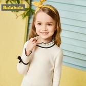 巴拉巴拉童裝女童毛衣套頭秋裝2018新款小童寶寶針織衫兒童毛衫女
