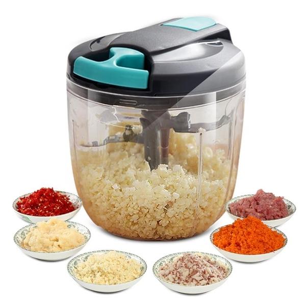 切菜機 廚房切菜神器手動多功能切菜器拉蒜器切菜機家用做菜蒜泥器碎菜機【幸福小屋】