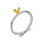 925純銀戒指-可愛愛心生日情人節禮物女配件73an47【巴黎精品】