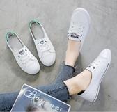 夏款透氣小白鞋女2019新款潮鞋夏季平底學生百搭帆布鞋淺口單鞋子