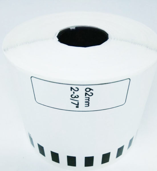 DK-22205 副廠連續標籤帶 (白底黑字) 62mm*30.48M 塑芯 DK22205 不含支架