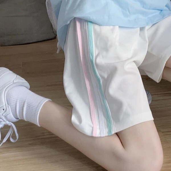 休閒運動褲女2021新款夏季薄款寬鬆顯瘦百搭闊腿五分短褲子潮ins 夏季特惠