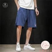 大碼加大薄款短褲男寬鬆直筒胖子夏季5五分褲【大碼百分百】