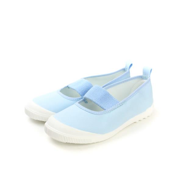 MoonStar 日本製 made in japan 鬆緊設計 好穿脫 健康室內鞋 水藍色 童 no075
